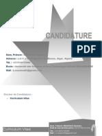112-CV de Candidature Benissad
