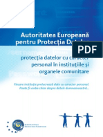 Autoritatea Europeană Pentru Protecţia Datelor Personale