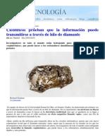 Transmision de Informacion en Hilo de Diamante