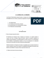 Propuestas de resolución de los grupos Socialista y Nacionalista