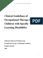Ot Guidelines Child Specific