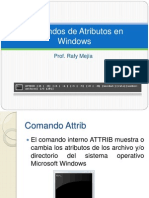 Comandos de Atributos en Windows