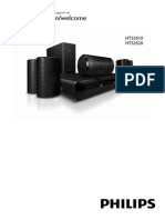 Manual Home Theater Philips Hts3510