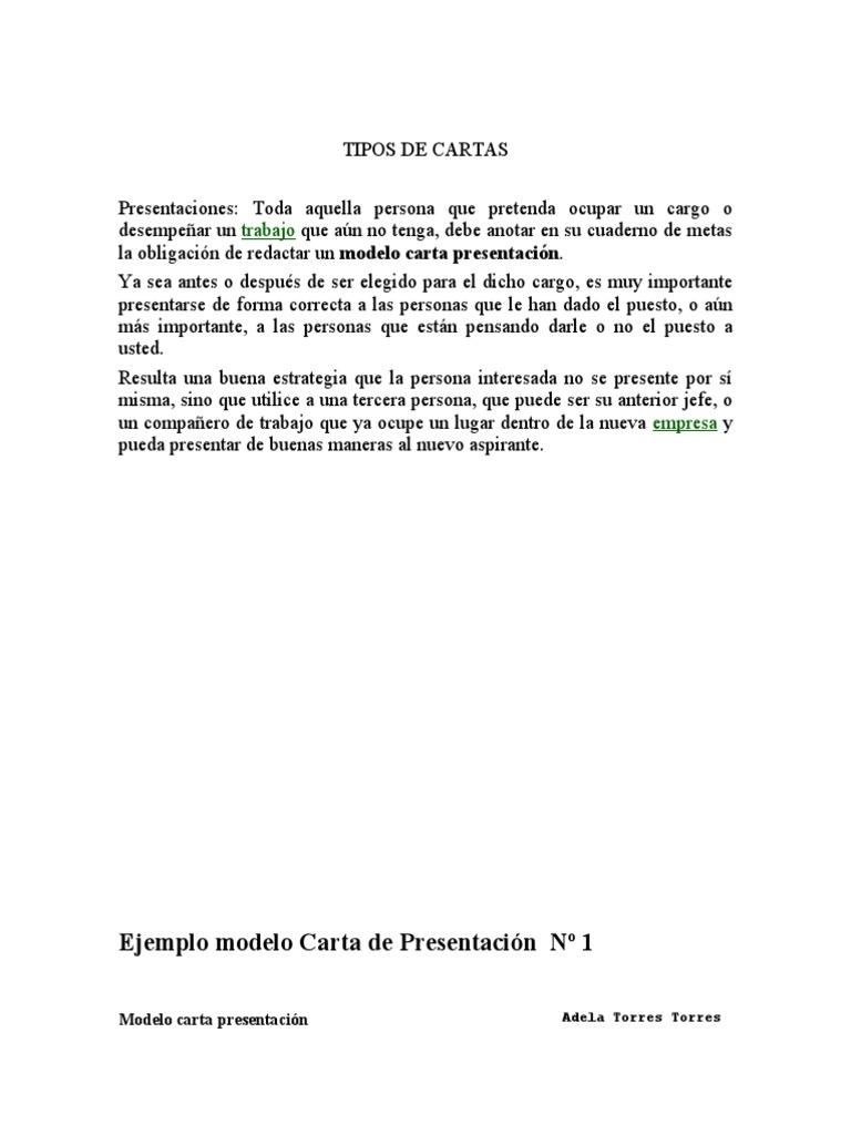 modelo carta de presentacion
