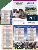 Kemu Academic Calendar 2014