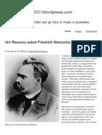 Um Resumo Sobre Friedrich Nietzsche _ FILOSOFICANDO.wordpress