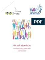 Whos Who in Health and Social Care - Yorkshire and Humber October 2013