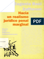 Hacia Un Realismo Juridico Penal Marginal - Zaffaroni - 1993