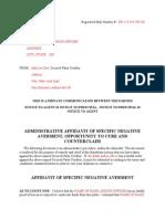 Administrative Negative Averment for Unlawful Garnishment Of