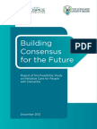Building Consensus for the Future Report of the Feasibility Study on Palliative Care for People With Dementia