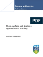 2a Deep Surfacestrategic Approaches to Learning