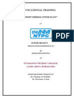 500 Mw NTPC Project Report