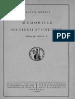 Donici Alex. 1934. Crania Scythica (Analele Academiei Române. Memoriile Secţiunii Ştiinţifice. Seria 3. Tomul 10)