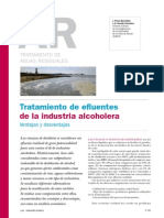 Tratamiento de Efluentes, Industria Alcoholera