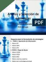 Analisis y Seleccion de Estrategias