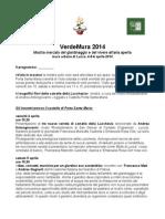 Il programma degli venti di Verde Mura Lucca 2014