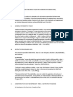 southwest metro educational cooperative restrictive procedures policy