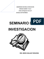 Modulo de Seminario de Investigacion