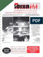 LLOIXA. Número 89, agosto/agost, 1993. Butlletí Informatiu de Sant Joan. Boletín informativo de Sant Joan.  Autor