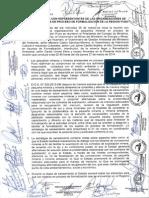 Acta de acuerdos entre representantes mineros de Puno y Ejecutivo.