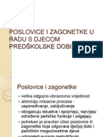 POSLOVICE I ZAGONETKE U RADU S DJECOM PREDŠKOLSKE