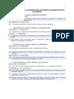 CUESTIONARIO PARA CATEQUIZANDOS A RECIBIR EL SACRAMENTO DE LA EUCARISTÍA