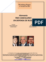 Alemania. TRES CANCILLERES EN DEFENSA DE RUSIA (Es) Germany. THREE CHANCELLORS DEFEND RUSSIA (Es) Alemania. HIRU KANTZILER ERRUSIA BABESTEN (Es)