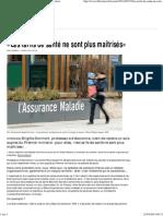 «Les tarifs de santé ne sont plus maîtrisés» - Libération