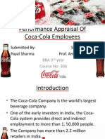 Performance Appraisal Of Coca-Cola employees