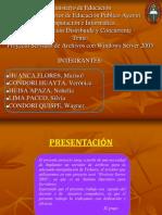 Proyecto Servidor Archivos Windows Server 2003
