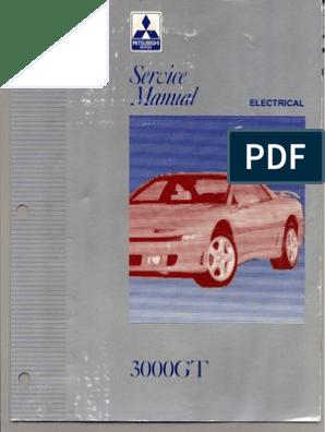 servicemanual mitsubishi 3000gt 1992-1996 vol.2 electrical | fuse ... 1992 mitsubishi 3000gt wiring diagram  scribd