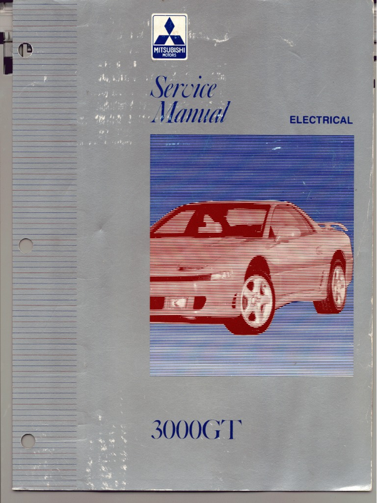 ServiceManual Mitsubishi 3000GT 1992-1996 Vol.2 Electrical | Fuse ( Electrical) | Troubleshooting