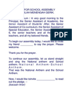 Text for School Assembly Smk Gerik