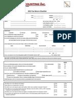 2013 T1 Checklist