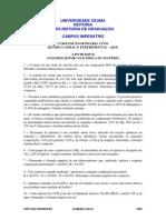 ANÁLISES QUÍMICAS E FÍSICA DA MATÉRIA - PARTE EXPERIMENTAL - QGE