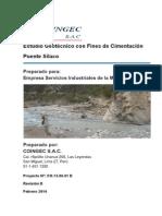 SIL Informe Estudio Geotécnico con fines de Cimentación - Puente Silaco Rev D