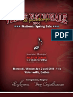 Sale Catalog - Vente Nationale