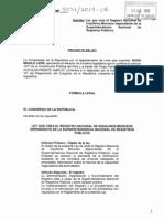 Proyecto de Ley Que Crea El Registro de Inquilinos Morosos en La Sunarp