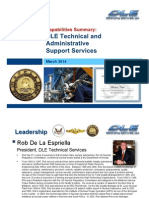 DLE Capabilities Presentation - MAR 2014