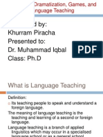 Drama in Language Teaching
