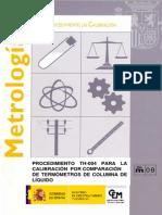Calibracion Por Comparacion de Termometros de Columna de Liquido