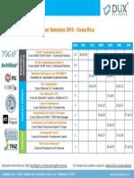 Calendario de Cursos 2015 - DUX Diligens CostaRica