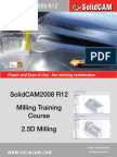 SolidCAM2008 R12 Milling Training Course 2 5D Milling
