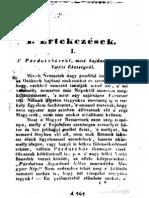 Horvát István - A Párdutzbőrről, mint hajdani Magyar Vitézi Ékességről 1837.