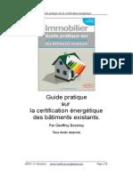 Guide Pratique Certificat Energetique Des batiments Existants