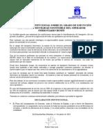 Declaración Institucional Plan de Movilidad Renfe