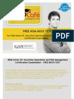 FREE NISM Mock Test - NISM Series VII