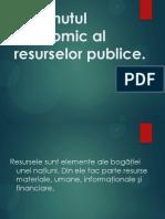 Conţinutul economic al resurselor publice