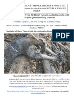 2014 Wisconsin DNR Spring Meeting Announcement (Trapping Poster Template)