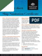 Ship Sanitation Cert